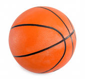 Оранжевый баскетбол изолированный на белой предпосылке Стоковое Изображение RF