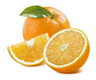 Оранжевый богатый состав изолированный на белой предпосылке Стоковое фото RF