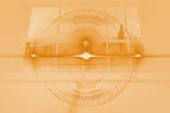 Оранжевый верхний слой шкалы иллюстрация штока