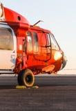 Оранжевый воинский вертолет Стоковое Фото