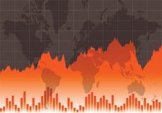 Оранжевый график состояния запасов Стоковые Фото