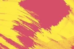 Оранжевый желтый цвет и розовая текстура предпосылки краски лета с grunge чистят ходы щеткой бесплатная иллюстрация