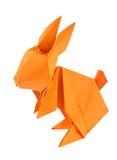 Оранжевый зайчик пасхи origami Стоковые Изображения