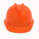 Оранжевый защитный шлем стоковые изображения rf