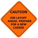 Оранжевый знак предосторежения, временное увольнение работы Бесплатная Иллюстрация