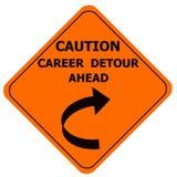 Оранжевый знак предосторежения - крюковина карьеры Иллюстрация вектора