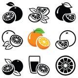 Оранжевый значок Стоковая Фотография RF
