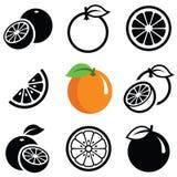 Оранжевый значок Стоковые Фото