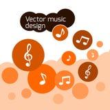 Оранжевый дизайн музыки вектора иллюстрация вектора
