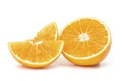 Оранжевый изолированный плод стоковая фотография