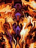 Оранжевый и пурпур пылает фракталь иллюстрация вектора