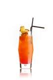 оранжевый коктеиль на белизне Стоковое Изображение
