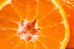 Оранжевый конец макроса tangerine вверх Стоковая Фотография RF