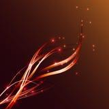 Оранжевый конспект предпосылки пылает и искрится Стоковые Изображения RF