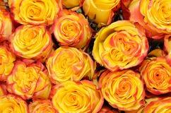 Оранжевый крупный план букета свадьбы Стоковое Фото