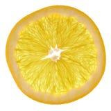 Оранжевый кусок изолированный над белизной Стоковые Фотографии RF