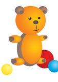 Оранжевый медведь иллюстрация вектора