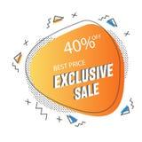 Оранжевый минималистский современный исключительный дизайн шаблона знамени продажи Предложение большой продажи особенное Иллюстра иллюстрация вектора