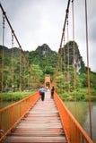 Оранжевый мост Vang Vieng Лаос Стоковое Фото
