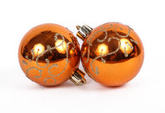 Оранжевый орнамент рождества шариков стоковые фото