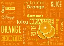 Оранжевый плодоовощ отрезает оформление лета Стоковая Фотография