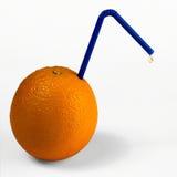 Оранжевый плодоовощ с соломой и падением стоковая фотография rf
