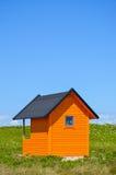 Оранжевый пляжный домик Стоковые Фотографии RF