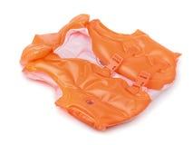 Оранжевый раздувной спасательный жилет Стоковая Фотография