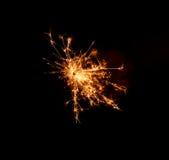 Оранжевый свет бенгальских огней Стоковые Изображения