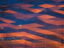 Оранжевый свет на фасаде Стоковая Фотография