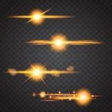 Оранжевый свет элемента с иллюстрацией eps 10 влияния объектива Стоковое фото RF