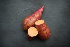 Оранжевый сладкий картофель стоковые фото