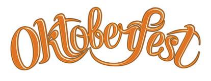 Оранжевый текст Oktoberfest scribble бесплатная иллюстрация