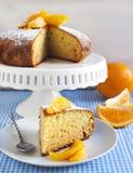 Оранжевый торт югурта Стоковая Фотография RF