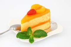 Оранжевый торт стоковое фото