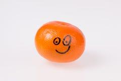 Оранжевый усмехаясь мандарин. Стоковое фото RF