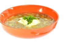 Оранжевый шар супа с капустой Стоковое фото RF