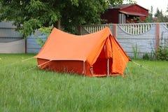Оранжевый шатер стар-школы Стоковые Фото