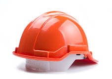 Оранжевый шлем конструкции Стоковое фото RF
