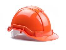 Оранжевый шлем конструкции Стоковое Фото