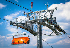 Оранжевый ropeway в низком Tatras, Словакии Стоковые Изображения