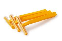3 оранжевых бритвы безопасности Стоковое Изображение RF