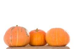 3 оранжевых зрелых тыквы Стоковые Изображения RF
