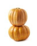 2 оранжевых изолированной тыквы Стоковая Фотография