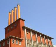 4 оранжевых печной трубы Стоковая Фотография
