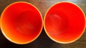 2 оранжевых стекла Стоковые Изображения RF