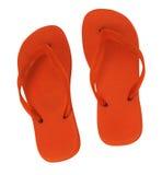 2 оранжевых тапочки Стоковое Фото