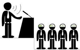 Оратор говоря к аудитории Стоковые Фотографии RF