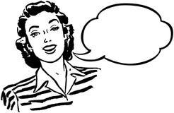 оратор-женщинаа иллюстрация вектора