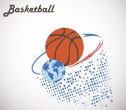 Орбита баскетбола Стоковые Фотографии RF